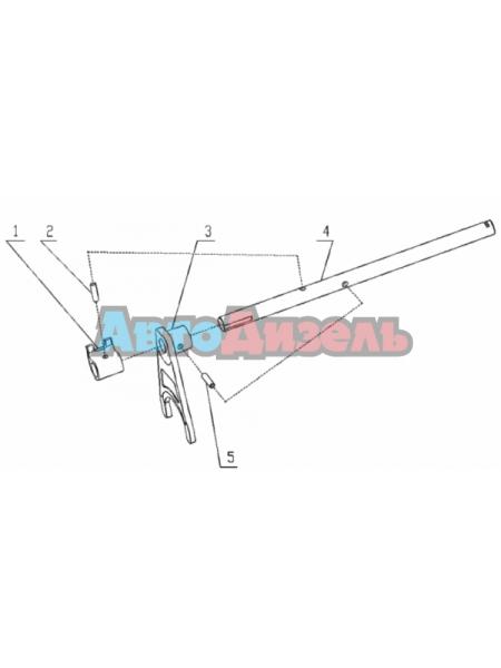 Вилка переключения 3-й и 4-й передачи КПП HW18709