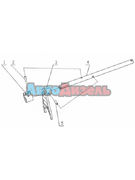 Вилка переключения 3-й и 4-й передачи КПП HW15710/19710