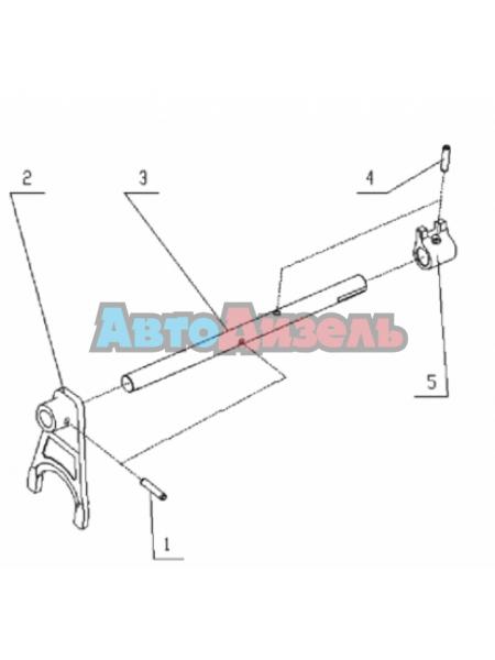 Вилка переключения заднего хода и пониженной передачи КПП HW18709/15710/19710
