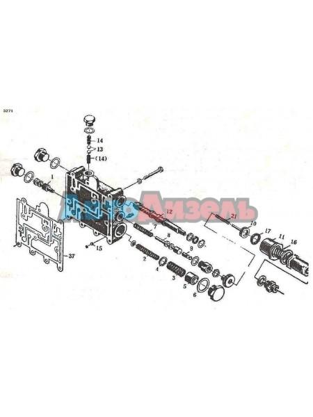 Блок клапанов 12C0001 АКПП LIUGONG ZL 30/40/50